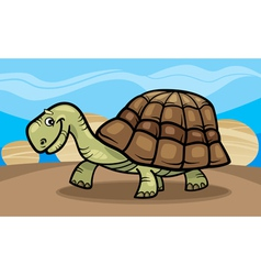 funny turtle cartoon vector image