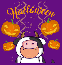 Halloween and kids cartoons vector