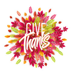 hand drawn happy thanksgiving day background give vector image