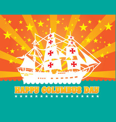 Happy columbus day design holiday celebration vector