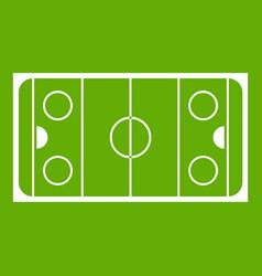 ice hockey rink icon green vector image