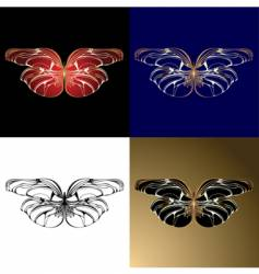 jewelery butterflies vector image