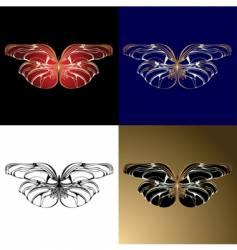 jewelry butterflies vector image