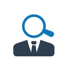 Job search icon vector