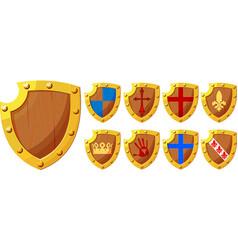 knight shields set vector image