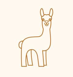 Lama mascot emblem vector
