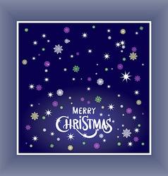 Merry Christmas typography handwriting background vector
