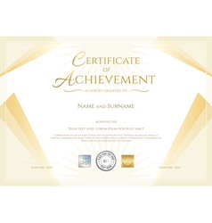 Modern certificate of achievement vector image