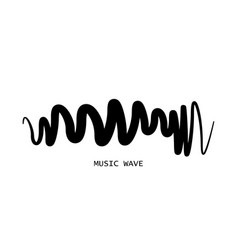 music wave player logo design equalizer element vector image