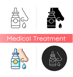 nasal spray icon vector image