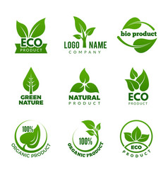 nature logo herbal organic eco natural health vector image