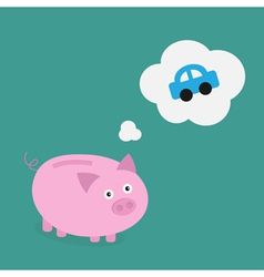 piggybank car vector image