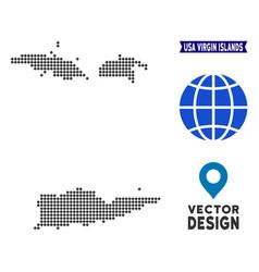 Pixelated usa virgin islands map vector