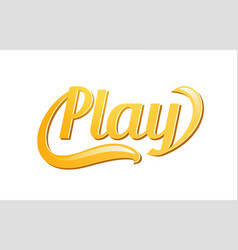 play golden text logo emblem for game sports vector image