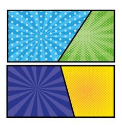 Pop art background frames vector