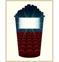 Popcorn bucket silhouette vector image