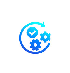 Positive impact or influence icon vector