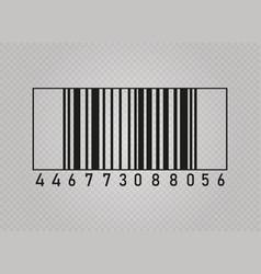 realistic bar code vector image