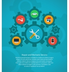 Repair and mechanic service vector