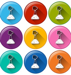 Round buttons with cylinders vector image
