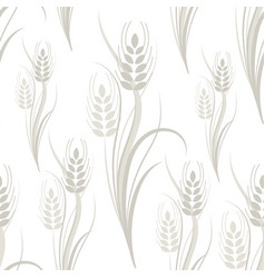 Seamless pattern with gray wheat spikelets vector