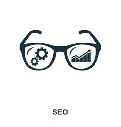 seo icon line style icon design ui vector image