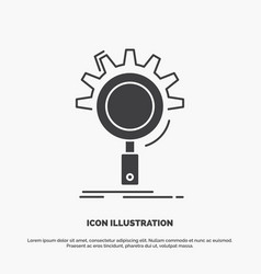 seo search optimization process setting icon vector image