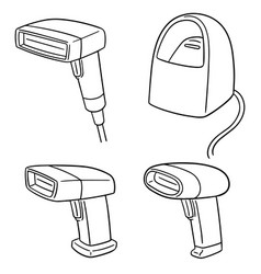 set of barcode reader vector image
