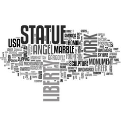 statue word cloud concept vector image