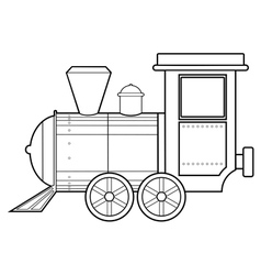 steam train vector image