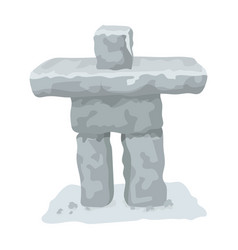 Stone sculpture in canada canada single icon in vector