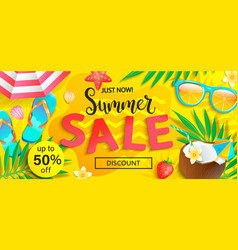 summer sale just now discount banner vector image