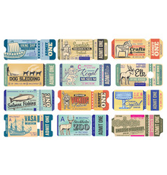 sweden historical museum festival tickets vector image