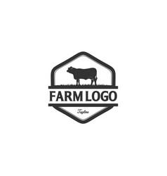 Vintage angus logo designs vector