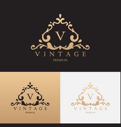 vintage brand logo design vector image