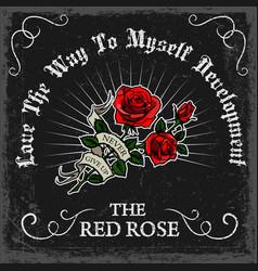 Vintage rose poster vector