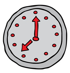 wall clock cartoon doodle vector image