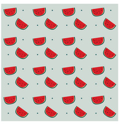watermelon dots pattern gray background ima vector image