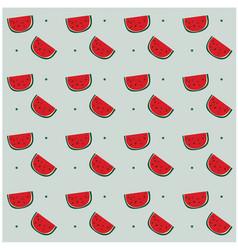 Watermelon dots pattern gray background ima vector