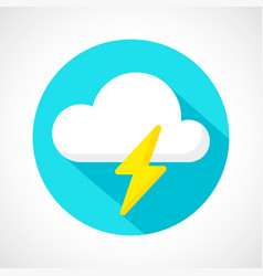 weather thunderstorm icon vector image