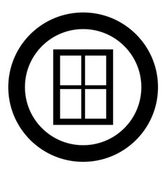 window icon black color in circle vector image