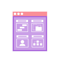 window with analysis business project data vector image
