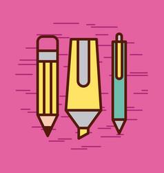 Children instruments draw vector