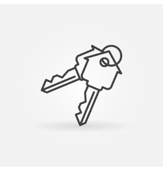 House keys minimal icon vector image