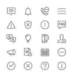 Information and notification thin icons vector image
