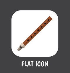 Melody symbol on reed icon vector
