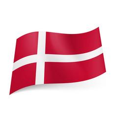 national flag of denmark white scandinavian cross vector image