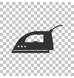 Smoothing Iron sign Dark gray icon on transparent vector image