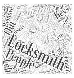 Stories Related to Locksmiths Word Cloud Concept vector image