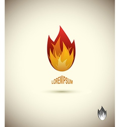 Tongues of flame icon logo of flame fire icon vector image